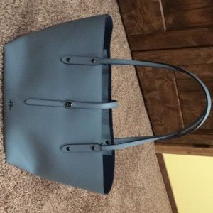 NWT Blue Leather Coach Tote